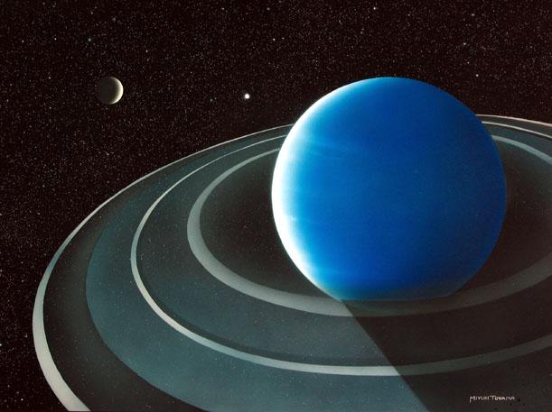 海王星とその衛星トリトン