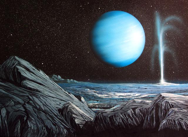 衛星トリトンから見た海王星